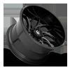 8 LUG RUNNER - D741 GLOSS BLACK & MILLED