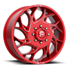 8 LUG RUNNER DUALLY FRONT - D742 CANDY RED & MILLED
