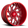 8 LUG RUNNER - D742 CANDY RED & MILLED