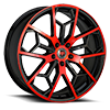 5 LUG R23 BLACK AND RED