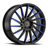 5 LUG R15 BLACK/BLUE