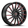 5 LUG R15 BLACK/RED