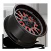 8 LUG STROKE - D612 22X10 +10 | GLOSS BLACK W/ CANDY RED