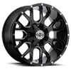 6 LUG SC-19 BLACK MILLED