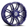 6 LUG SC-18 NEON BLUE MILLED