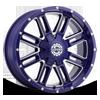 6 LUG SC-18 NEON BLUE MILLED