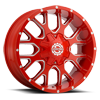 6 LUG SC-19 NEON RED MILLED