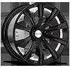 5 LUG SC101 GLOSS BLACK W/ INNER RIM MACHINED