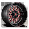 5 LUG STROKE - D612 GLOSS BLACK W/ CANDY RED