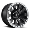 5 LUG TACTIC - D629 BLACK W/ MACHINED LIP