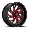 4 LUG KOMPRESSOR - D642 - UTV GLOSS BLACK W/ CANDY RED