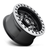 4 LUG ANZA BEADLOCK - D917 - UTV MATTE BLACK W/ ANTHRACITE RING