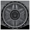 5 LUG XD128 MACHETE MATTE GRAY W/ BLACK RING