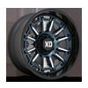 6 LUG XD865 PHOENIX METALLIC BLUE MILLED WITH BLACK LIP