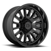 6 LUG XD864 ROVER SATIN BLACK W/ GLOSS BLACK LIP