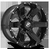 5 LUG XF-214 GLOSS BLACK W/ GLOSS BLACK INSERTS - 20X10