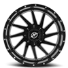 5 LUG XF-216 GLOSS BLACK MILLED - 20X10