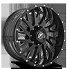 5 LUG XF-221 GLOSS BLACK MILLED - 20X10