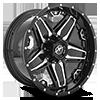 5 LUG XF-223 GLOSS BLACK MACHINED - 20X10