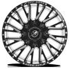 5 LUG XF-226 GLOSS BLACK MILLED
