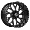 6 LUG XFX-301 BLACK MILLED
