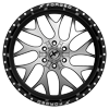 6 LUG XFX-301 GLOSS BLACK BRUSHED
