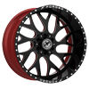 6 LUG XFX-301 BLACK RED MACHINED