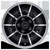 5 LUG VN47 VECTOR SATIN BLACK MACHINED