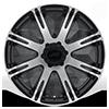 6 LUG AR708 RIBELLE MATTE BLACK MACHINED