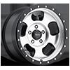 5 LUG AR969 ANSEN OFF ROAD MACHINED FACE W/ SATIN BLACK RING