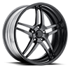 5 LUG VF481 SHOWN WITH CUSTOM ANTHRACITE AND GLOSS BLACK CENTER WITH GLOSS BLACK BARREL