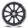 5 LUG VF499 BLACK W/ CHROME LIP