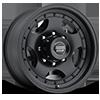 8 LUG AR23 SATIN BLACK W/ CLEAR COAT