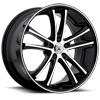 5 LUG ABL-1 PEGASI MACHINED FACE W/ BLACK LIP