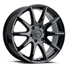 6 LUG 159 SPIKE GLOSS BLACK