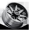 8 LUG 954 STRYKER GLOSS BLACK MACHINED