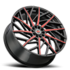 5 LUG R21 BLACK/RED