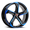 5 LUG R20 BLACK/BLUE