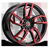 5 LUG R22 BLACK/RED