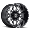 6 LUG SC-16 BLACK MILLED