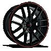 4 LUG TR60 BLACK W/ RED TRIM