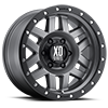 8 LUG XD128 MACHETE MATTE GRAY W/ BLACK RING